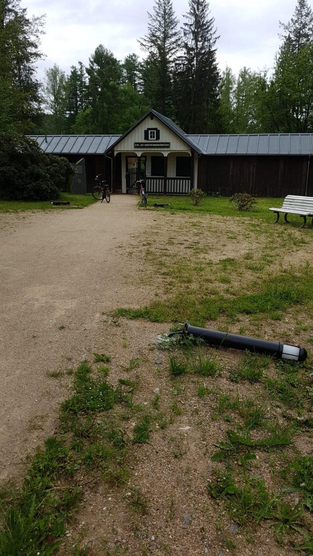 Vandalismusschäden im Naturbad Bad Elster